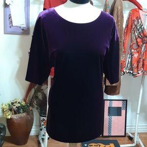 Fall Lounge Shirt Plum Purple sz 3X